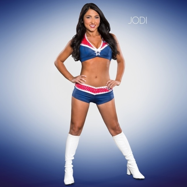 Jodi, cheerleader do New England Patriots