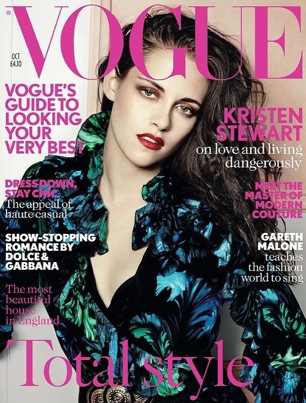 """Kristen Stewart posa para a """"Vogue"""" britânica (4/9/2012)"""