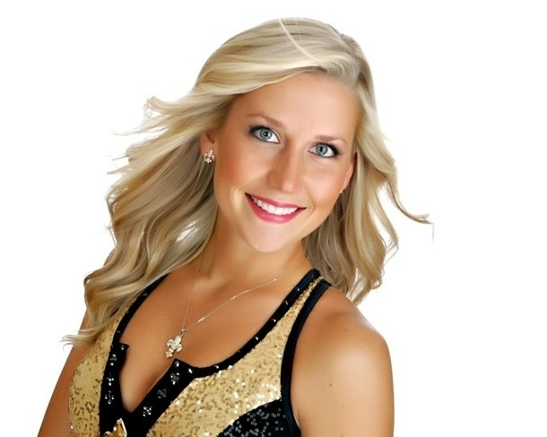 Lori, de 25 anos, cheerleader do New Orleans Saints