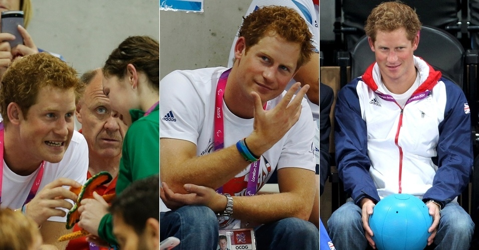 Príncipe Harry assiste competição de natação na Paraolimpíadas, em Londres (4/9/12).
