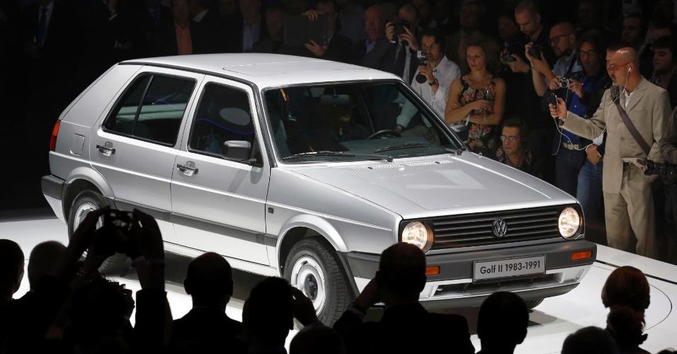 Segunda geração Volkswagen Golf, produzida entre 1983 e 1991, também passou pelo palco