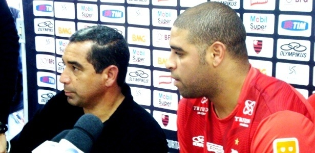 Zinho e Adriano comentam sobre ausncia do jogador em treinamento do Flamengo