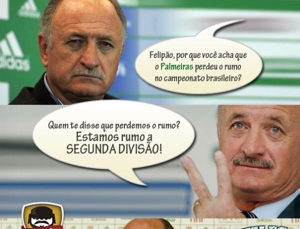 Corneta FC: Para Felipão, Palmeiras está no rumo certo no Campeonato Brasileiro