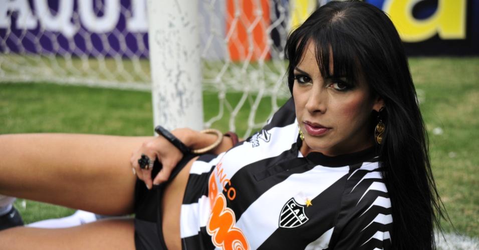 Alesandra Silva, a bela do Atlético-MG