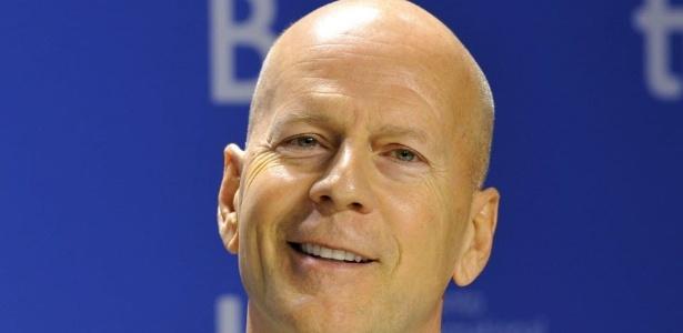 O ator Bruce Willis durante rodada de entrevistas sobre o filme