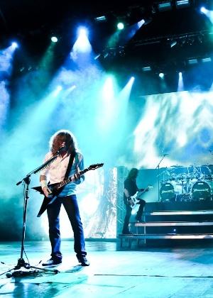 Dave Mustaine em show em São Paulo