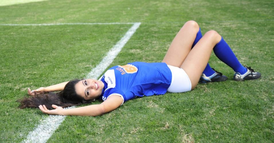 Barbara Martins, a bela do Cruzeiro