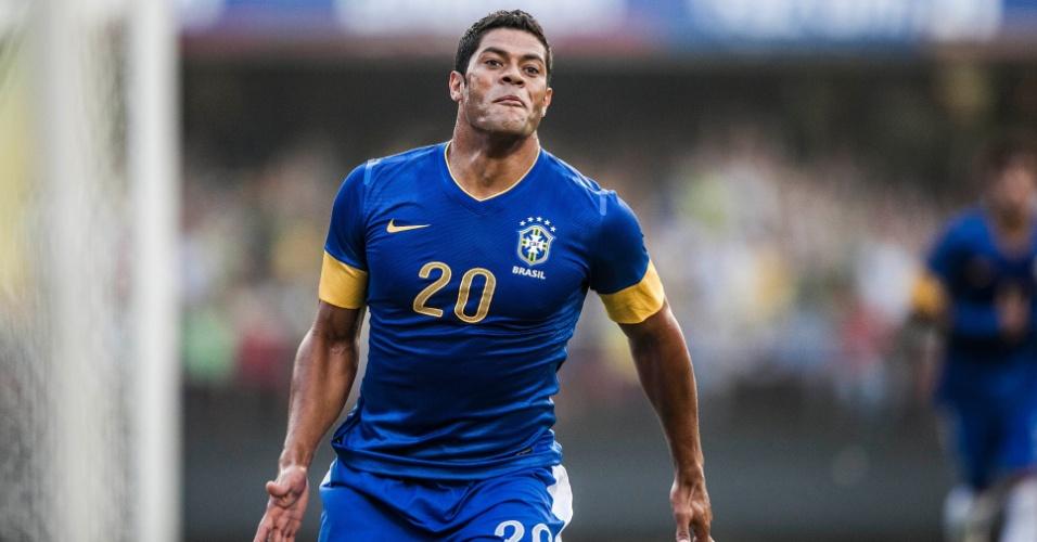 Hulk marcou o gol da vitória da seleção brasileira sobre a África do Sul