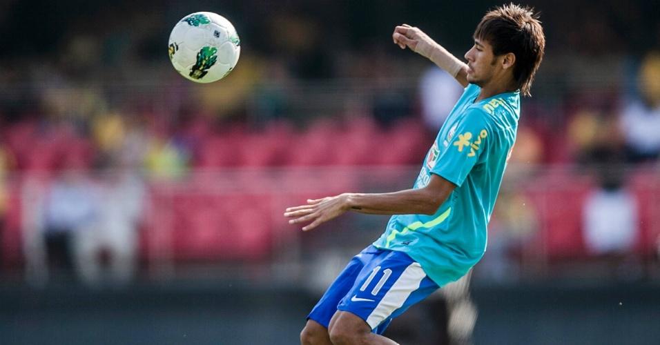 Neymar se prepara para amistoso da seleção brasileira contra a África do Sul