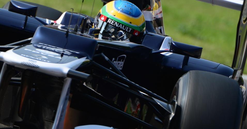 Brasileiro Bruno Senna participa do treino classificatório para o GP da Itália (08/09/12)