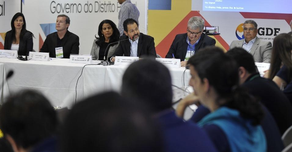 A reunião entre membros da Fifa e do COL aconteceu no Palácio do Buriti, em Brasília