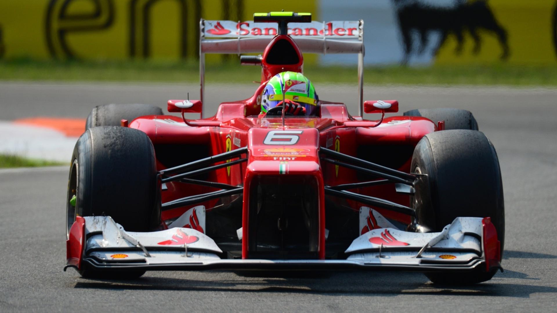 Brasileiro Felipe Massa ficou em quarto lugar no Grande Prêmio da Itália (09/09/12)
