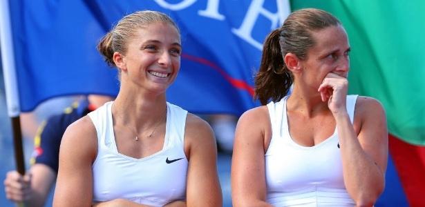Italianas Sara Errani e Roberta Vinci aguardam premiação por título de duplas
