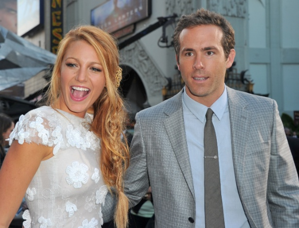 "Blake Lively e Ryan Reynolds na première de ""Laterna Verde"" em Hollywood (15/6/11)"