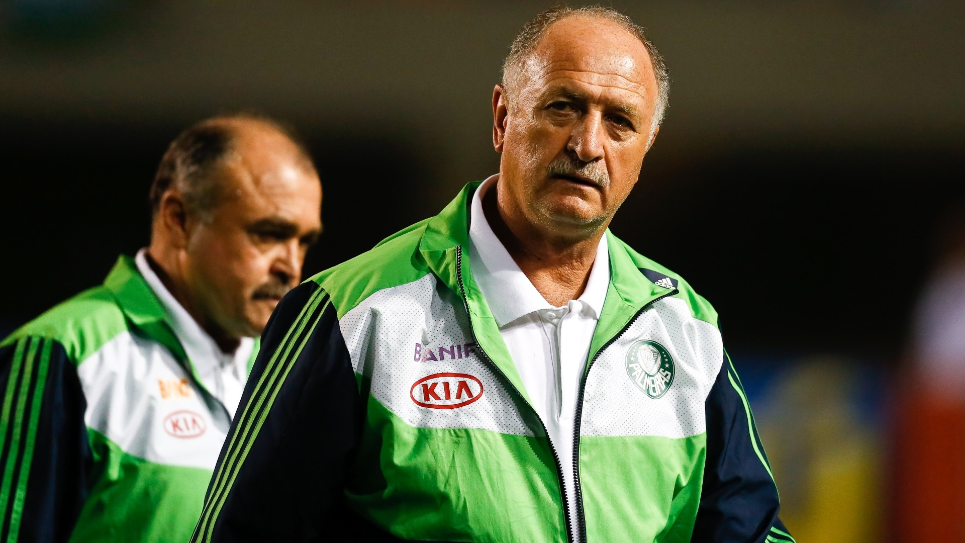 Luiz Felipe Scolari e seu auxiliar, Flvio Murtosa