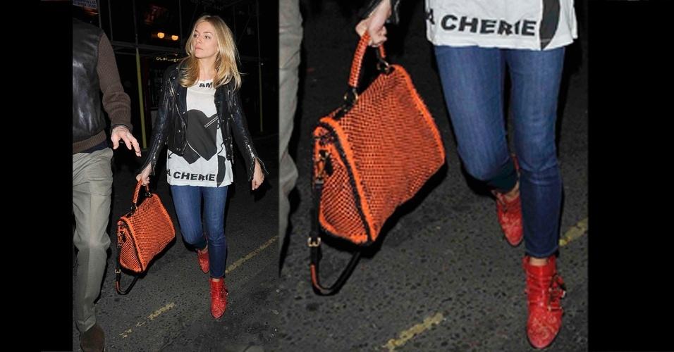 Sienna Miller escolheu a Prada