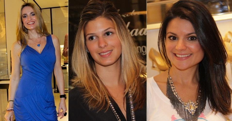 Amanda Ross, Anna Fasano e Sophia Alckmin estiveram na abertura do Fashion's Night Out, na  Loja Dior, em São Paulo (10/9/12)