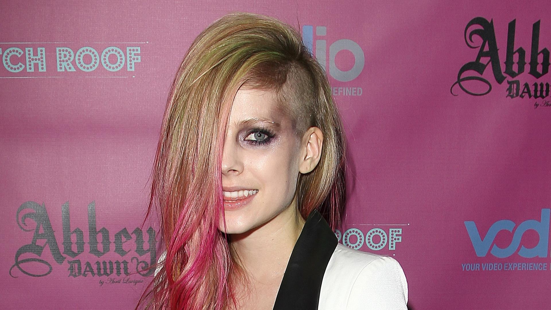Avril Lavigne em uma festa em Nova York, nos EUA(10/9/12)