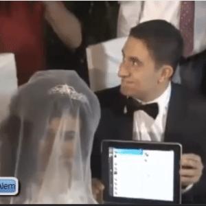 Casal turco usou o Twitter na cerimônia de casamento