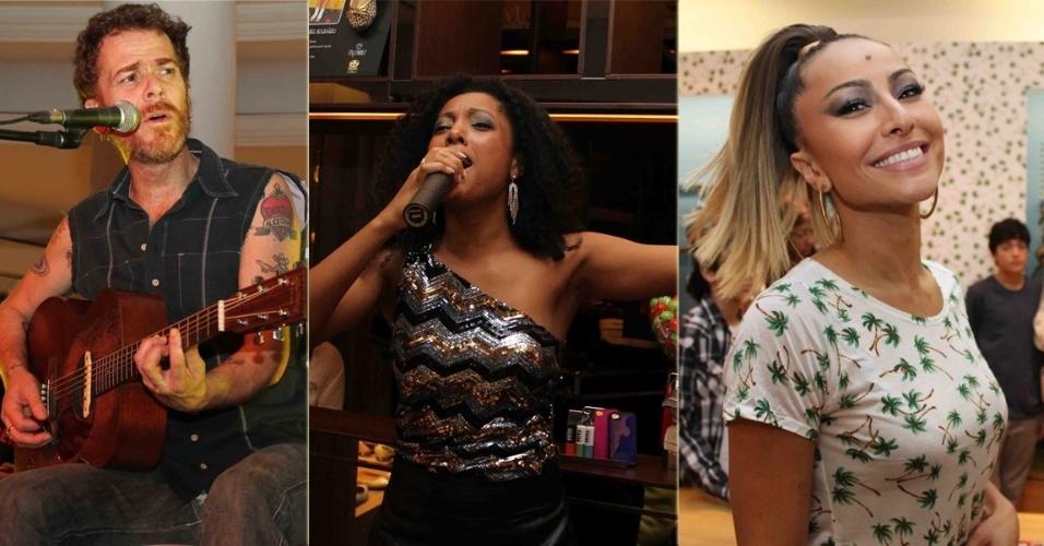Evento promovido por loja no shopping Higienópolis, em São Paulo, teve atrações como Nando Reis e Negra Li, além de contar com a presença de famosos como Sabrina Sato (10/9/12)