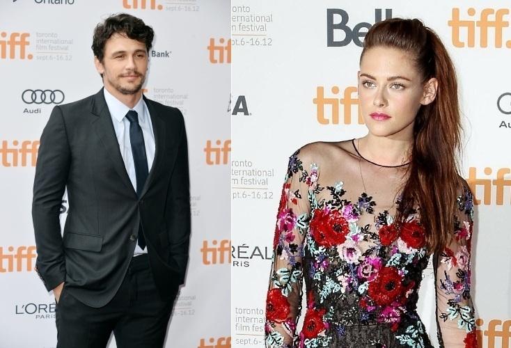 James Franco e Kristen Stewart durante o Festival de Toronto 2012