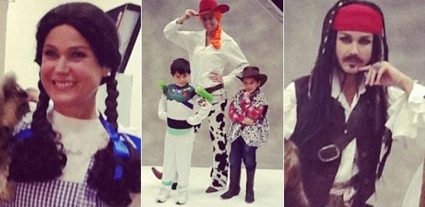 Xuxa se veste de personagens infantis para calendário beneficiente