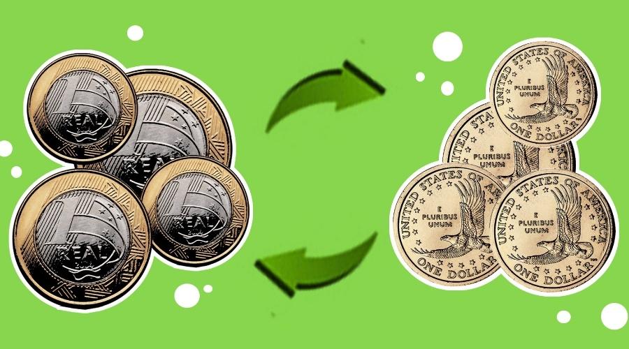 Nas férias, vou viajar para Nova York, nos Estados Unidos. Para fazer compras, vou ter de trocar reais por dólares. Sei que o um dólar vale aproximadamente dois reais, mas a questão são os quebradinhos... Como posso fazer a conversão de uma moeda para outra de modo a ter o valor exato e não perder meus quebradinhos?