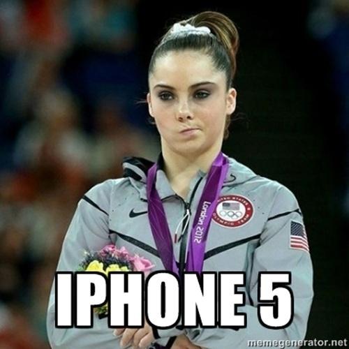 A ginasta McKayla Maroney não está impressionada com o iPhone 5