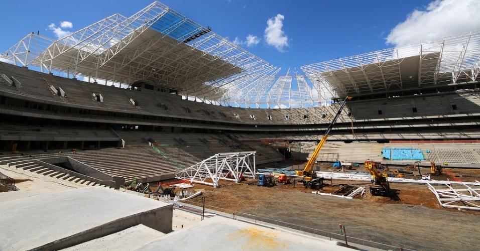 Arena do Grêmio tem 90% das obras concluídas