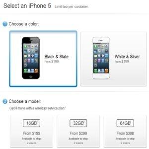 Aviso na loja online diz que iPhone 5 está indisponível