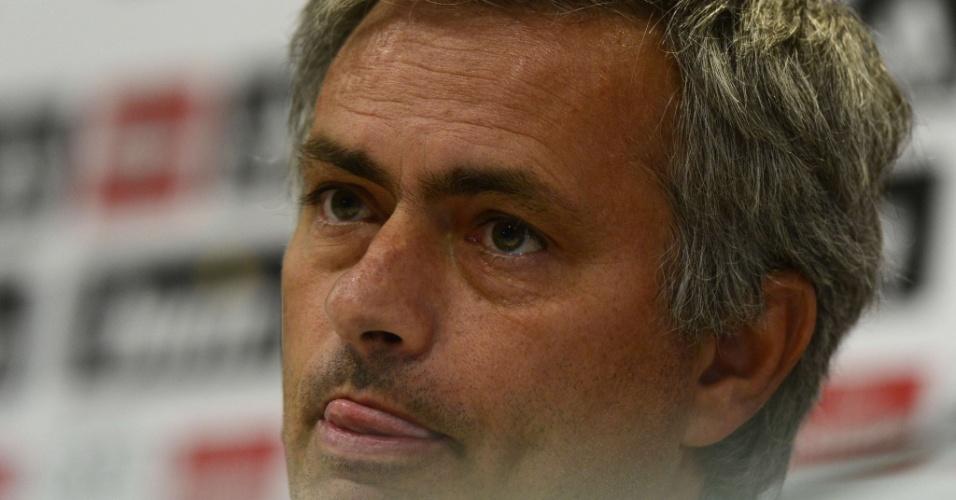José Mourinho, em coletiva do Real Madrid nesta sexta-feira (14/09/2012)