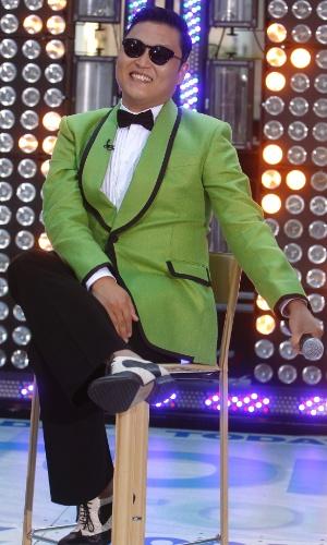 """O cantor Psy, cantor de """"Gangnam Style"""", é entrevistado no programa """"Today"""", da NBC (14/9/12)"""