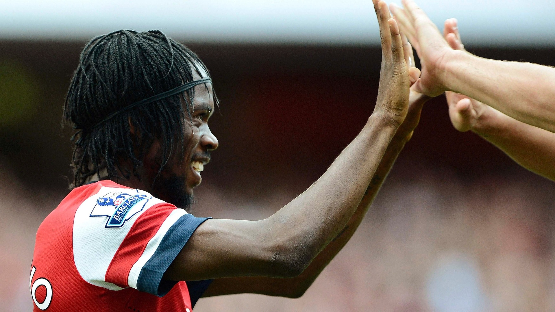 Gervinho, do Arsenal, comemora terceiro gol do Arsenal contra o Southampton