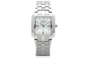 cd63747e190 Relógio analógico da Technos com caixa e pulseira de aço inox prata. É  analógico e tem calendário  R  249