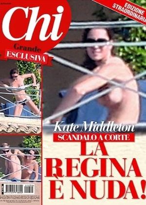 "Revista italiana ""Chi"" publica fotos da duquesa Catherine fazendo topless"