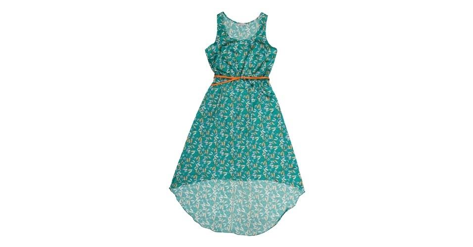 Vestido azul com estampa de libélula e cinto laranja; R$ 269, na Enjoy (SAC: 0800 0236 569). Preço pesquisado em setembro de 2012 e sujeito a alterações