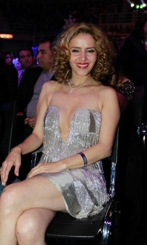 A atriz Leona Cavali participa da 19ª edição do Prêmio Multishow, no Rio de Janeiro (18/9/12)