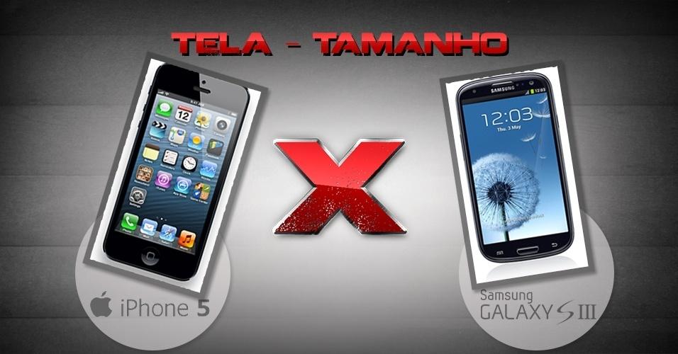Comparativo entre iPhone 5 e Galaxy S III