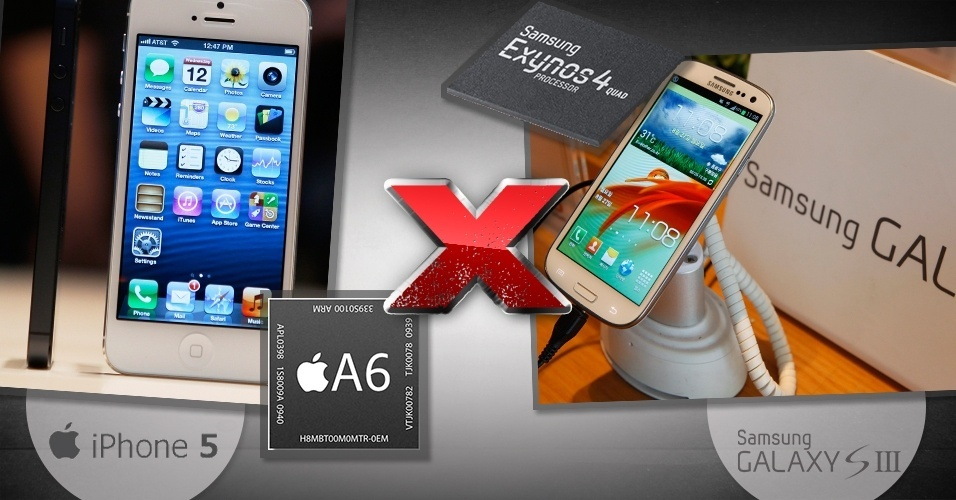 Comparativo entre iPhone 5 e Galaxy S III