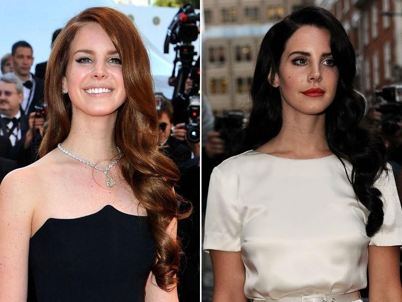 Lana Del Rey de cabelo preto