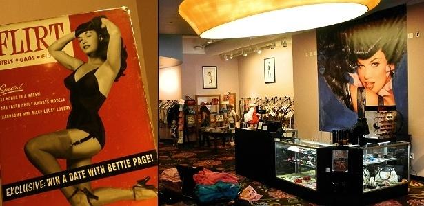 Loja inspirada no estilo da pin-up Bettie Page, em San Diego, cidade na Califórnia