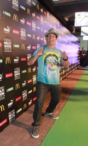 O apresentador Sérgio Mallandro chega para o 19º Prêmio Multishow (18/9/12).