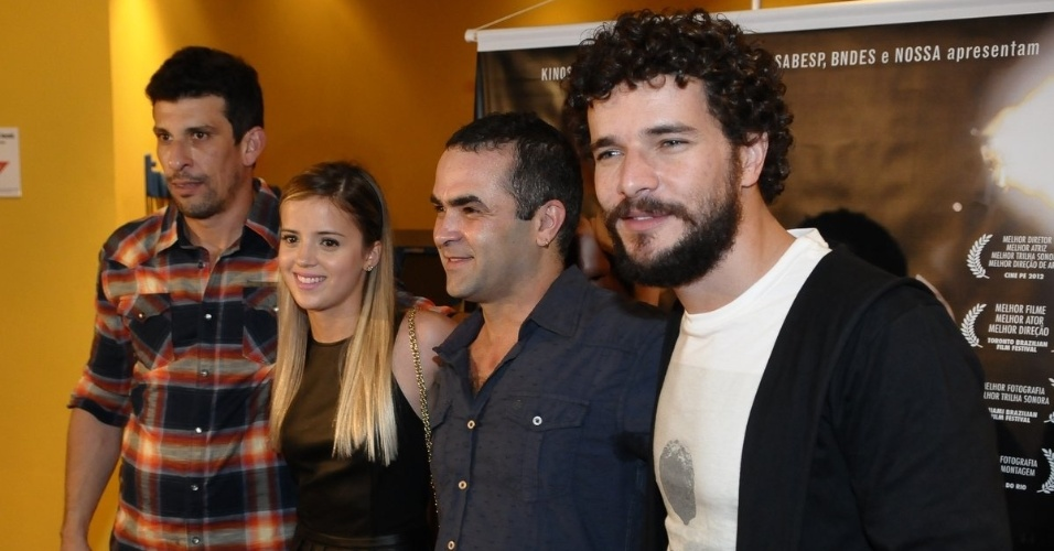 Os integrantes do elenco do filme &#34;Boca&#34; Milhem Cortaz, Camila Leccioli, Fl&#225;vio Frederico e Daniel de Oliveira na pr&#233;-estreia do longa em S&#227;o Paulo (18/9/12)