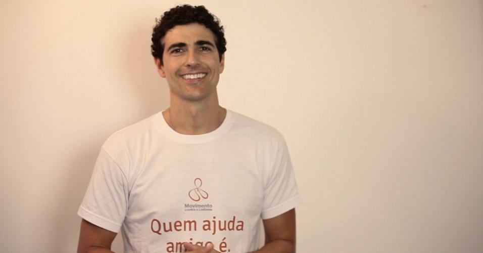 Reynaldo Gianecchini posa para a campanha Movimento Contra o Linfoma (18/9/12)