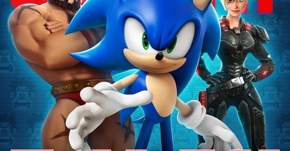 Sonic e Zangied dividem pôster com a Sargento Calhoun
