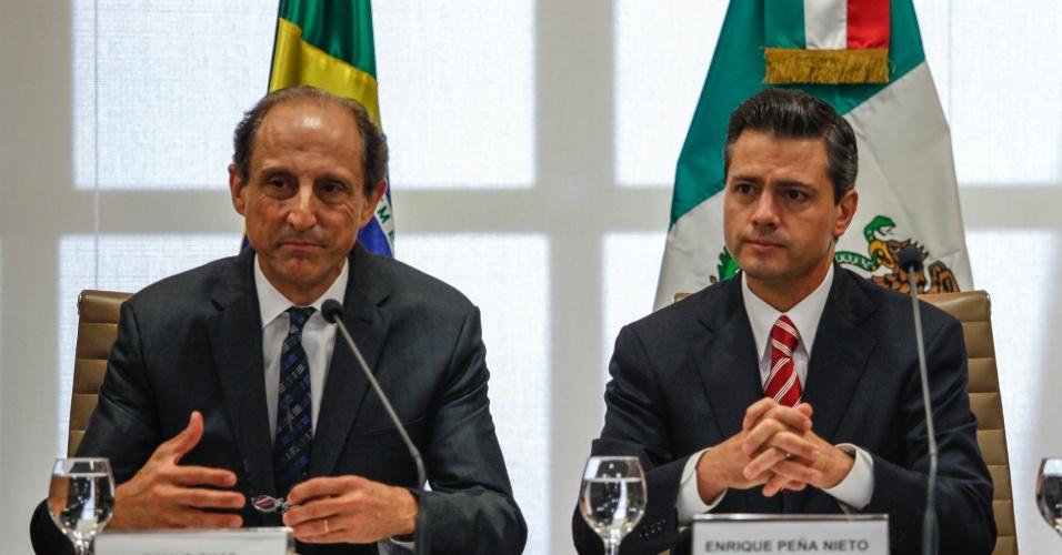 19.set.2012 - O presidente eleito do México, Enrique Peña Nieto (Partido Revolucionário Institucional) visita o Brasil