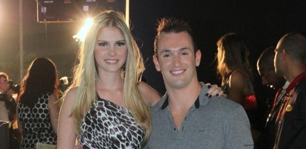 Bárbara Evans e Diego Hypólito no 19º Prêmio Multishow (18/9/12)