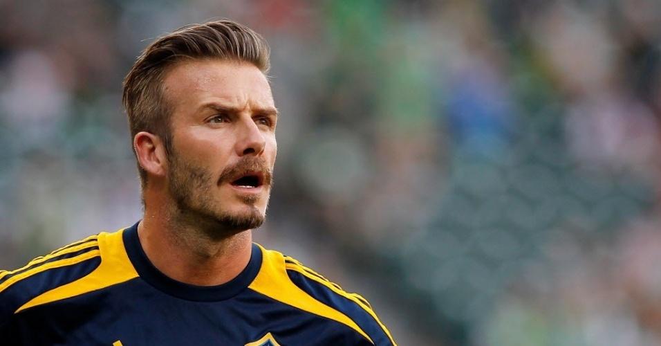 David Beckham é um dos destaques da liga de futebol dos EUA atuando pelo Galaxy