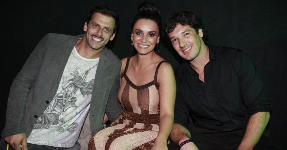 Henri Castelli e Suzana Pires durante a festa do 19º Prêmio Multishow (18/9/12)