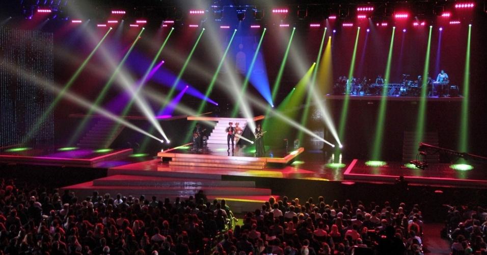 Imagem do palco da 19ª edição do Prêmio Multishow, na HSBC Arena, na Barra da Tijuca, Rio de Janeiro (18/9/12)